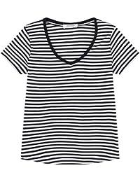 Promod T-Shirt mit V-Ausschnitt