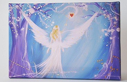 """Henriettes-ART: Engelbilder, Engel Kunst Leinwanddruck, Bilder auf Leinwand: """"In Deinem Herzen"""" Schutzengel Geschenk"""
