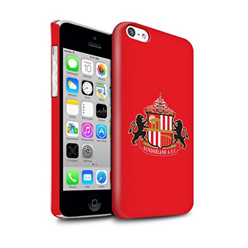 Offiziell Sunderland AFC Hülle / Glanz Snap-On Case für Apple iPhone 5C / Pack 6pcs Muster / SAFC Fußball Crest Kollektion Rot
