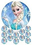 Frozen Elsa essbaren Kuchen Topper nicht personalisierbar Qualität Wafer Papier gedruckt