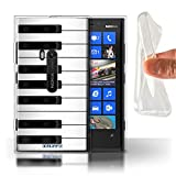 Coque Gel TPU de Stuff4 / Coque pour Nokia Lumia 920 / Piano Design / Clés/Boutons Collection