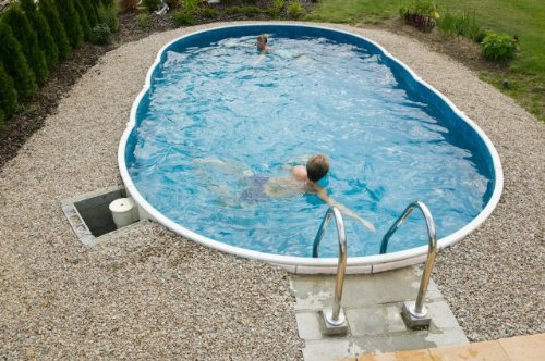 Swimming pool kit 24x12ft oval garden rattan furniture for Above ground swimming pools uk
