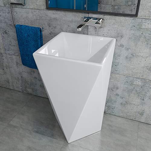 Design Keramik Standwaschbecken Säule Standsäule Säulenwaschbecken KBE003C