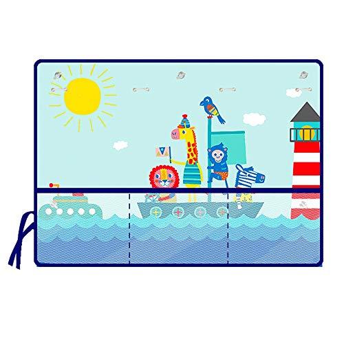 Sonnenschutz Auto Baby Auto-Fenster-Schattierungen Cartoon-Muster Reise Drei-Schicht-Sonnencreme Saugnapf Sonnenschirm Schutz für Ihr Kind Baby 2 Pack für die meisten Seitenscheiben passgenau