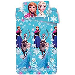 Disney Frozen le351001063Completo Cama, 100% Algodón, Azul, 39x 30x 4cm