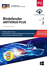 Bitdefender Antivirus Plus Latest Version (Windows) - 1 User 2 Years (Email Delivery in 2 Hours - No CD)