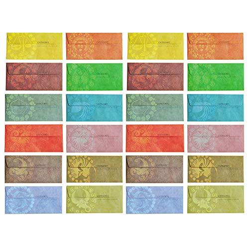 12 günstige Briefumschläge, mehrfarbig, wasserfest, laminiert, Geldumschläge-System für Budgetierung und Geldsparung, Geld sparen, Geldumschlagsystem -