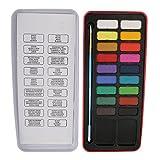 Gazechimp Aquarellfarben Set 12/18 Farben Mit Pinsel Künstler Handwerk Schule Schreibwaren - 18 Farben