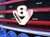 Unbekannt Vorne Edelstahl V8Logo für Truck Trucker Alle Series Badge Schild Dekoration Zubehör