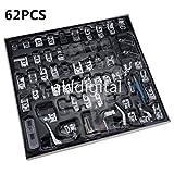 akldigital Kit de 62 Piezas Multifuncional Prensatelas Accesorios para Máquina de Coser Presser Foot Feet Kit Machines Set (62 PCS A)