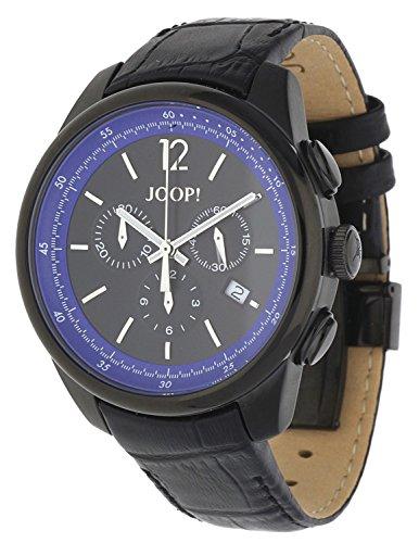 Joop! - JP101171F06 - Montre Homme - Quartz - Chronographe - Bracelet cuir noir