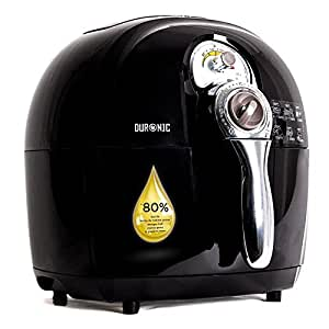 Duronic AF1 /B Healthy Oil Free 1500W Air Fryer Multicooker - Black - free recipe book - 2 Years Warranty included