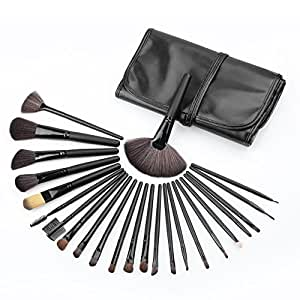 Generic 24Pcs Cosmetic Make up Makeup Brush Set Foundation Powder Blusher Eyeshadow with Black Carry Pouch