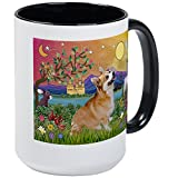 CafePress – Fantasyland & Welsh Corg – Kaffee Tasse, groß 15 Oz Weiß Kaffee Tasse Large White/Black Inside