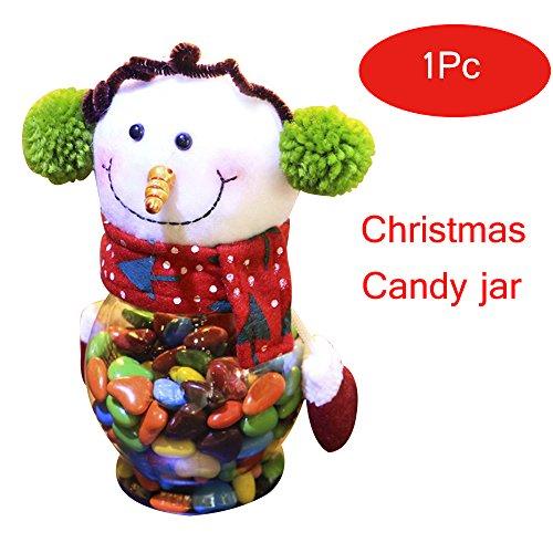 yookoon Weihnachten Candy Jar Elch Weihnachtsmann Schneemann Kleine Geschenke Behälter Flasche Jar Dekorationen 25x 10cm Casual multi