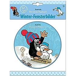 """3-er-Set Fensterbilder """"Der kleine Maulwurf"""": Witzige Wintermotive"""