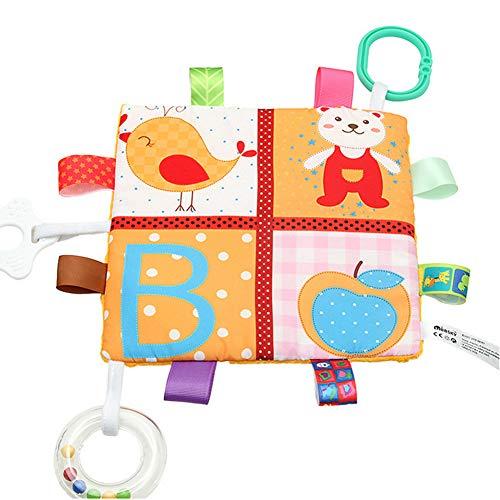 Taggies Blanket -Inchant Couverture de sécurité pour bébé Réconfortant Ruban doudou avec Tag, un grand cadeau de baby shower!