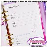 A5 - Personal - REFILL handmade per agende planner 1 FOGLIO Informazioni personali Farfalle