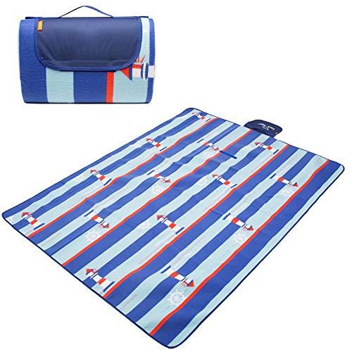 Couverture de Pique-Nique, fourre-Tout d'extérieur Handy Mat résistant à l'eau et idéal pour la Plage, Camping Se déplaçant sur de l'herbe