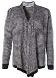 Barbara Becker Damen Strickjacke Cardigan Jacke Stehkragen Glitzerfäden Black/White 40