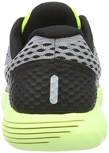 Nike Wmns Nike Lunarglide 8, Sneakers basses femme Gris (Wolf Grey/white-volt-gamma Blue 017)