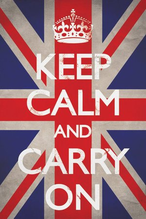 1art1 48799 Motivation - Keep Calm And Carry On, Union Jack Poster (91 x 61 cm)