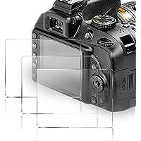 KIMILAR protector de pantalla de cristal templado para Nikon D3400 /D3300 /D3200 /D3100 /D3000, 9H dureza resistente a los arañazos protector de pantalla para Nikon DSLR Cámara - paquetes de 3