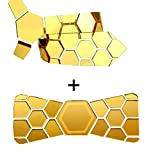 #6: Hex tie Reversible Glossy golden and matte black with golden bow tie