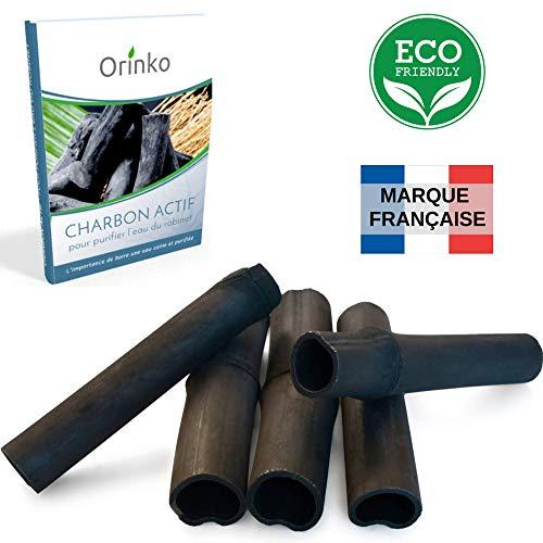 Vibratis Binchotan Orgánico 5x - Carbón Activo Binchotan de Bambú para Purificación de Agua de...