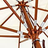 anndora® Sonnenschirm Gartenschirm Marktschirm 3 x 3 m eckig wasserabweisend - mit Winddach Grün