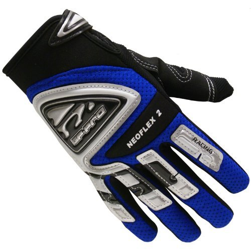 GP-Pro Neoflex 2 Cub Kinder Motorrad-Handschuhe - Offroad/Motocross - Blau - XS (Doppel-manschette-handschuhe)