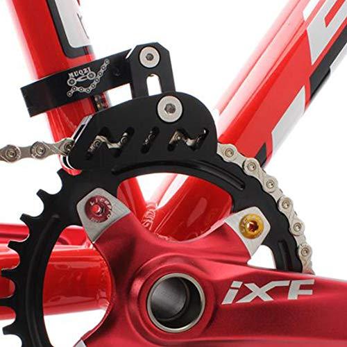 Fahrrad-Kettenführung, Fahrrad-Schutz für Rennrad, Mountainbike, Kettenführung, Spanner für Einzelscheiben, Fahrrad-Schutz, Vorderscheibe, glattes Fahren, schwarz