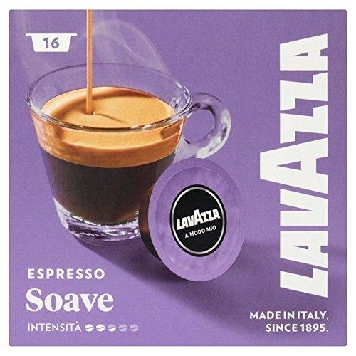 Find Lavazza A Modo Mio Espresso Soave 16 per pack - Pack of 5 by Luigi Lavazza S.p.A.