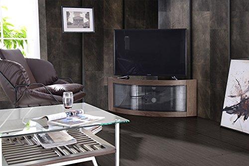 """TV-Schrank """"Pangea"""" - Eckschrank mit gebogener Front, für Fernsehgeräte mit 32-55 Zoll (81-140 cm) von Centurion Supports"""