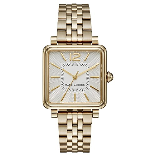 Marc Jacobs Women's Quartz Watch with Gold Dial Analogue Display and Gold Stainless Steel Bangle MJ3462