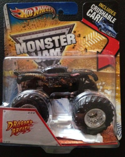 Dragon's Breath Hot Wheels Monster Jam Truck Multi Graphics Crushable Car Included Max-d Decade of Maximum Destruction 1:64 by Hot Wheels