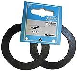Cornat TEC380302 Joint en caoutchouc pour bonde d'évier, 1 1/2'', 2 pièces Multicolore