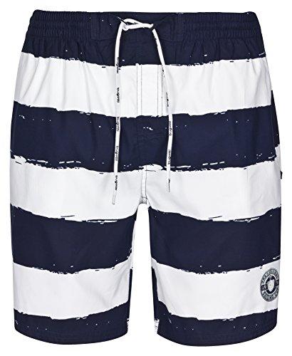 bugatti® - Herren Badeshort, blau und weiß gestreift, in Größe L