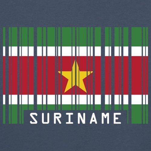 Suriname / Republik Suriname Barcode Flagge - Herren T-Shirt - 13 Farben Navy