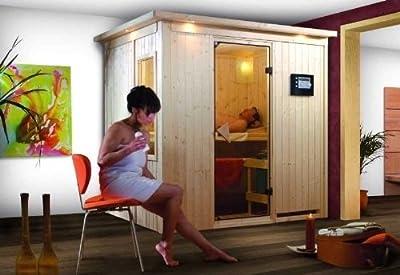 Bodin - Karibu Sauna ohne Ofen - ohne Dachkranz - von Woodfeeling GmbH bei Du und dein Garten