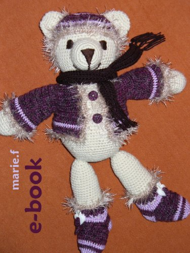 Häkelanleitung Teddy-Kleidung, 4-teilig, für marie.f-Teddy, PDF, ebook, für Anfänger und Fortgeschrittene