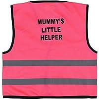 Momo&Ayat Fashions Kids Child Little Helper Print Hi-Viz Hi-Visibility Safety Vest Waistcoat Age 1-9 Years