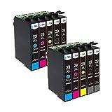 LxTek Kompatibel Ersatz für Epson 29 29XL Druckerpatronen für Epson Expression Home XP-235 XP-245 XP-247 XP-332 XP-335 XP-342 XP-345 XP-442 XP-432 XP-435 XP-445 (4 Schwarz, 2 Cyan, 2 Magenta, 2 Gelb)