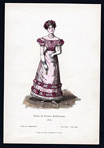 Tracht Paris (Dame Ballkostüm Paris Mode Trachten Tracht costume Original)