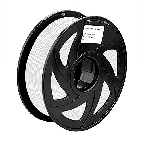 SIENOC 1Kg ABS 1,75mm 3D Printer Filamento Spool 3D Materiale di stampa per stampanti (bianco)