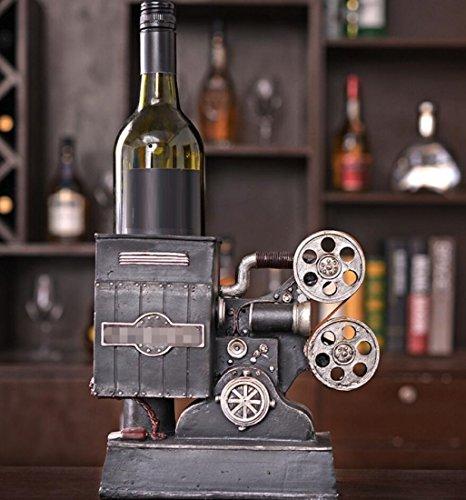 Amerikanischer Stil Retro Projektor Modell Wein Rack Dekoration Harz Handarbeit Geschenk Tischplatte Szenen Ornamente Andenken Frames Home Dekor Akzenten,23.5 * 11 * 21cm -