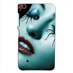 Bluethroat Haunted Female face Back Case Cover for Nokia Lumia 530 :: Nokia Lumia 530 RM 1017 :: Nokia Lumia 530 Dual SIM :: Microsoft Lumia 530 Dual