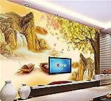 Muraon Mural de alta definición Aduana Papel tapiz fotográfico 3d Salón de color pintura paisajística Tallado Foto sofá Fondo de TV Etiqueta adhesiva no tejida, 300x210 cm (118.1 por 82.7 pulg.)