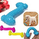 #9: Pets Empire Rubber Dog Chew Toys Bone-Shaped Rubber Dental Chewing Biting Teething For Puppy Pack of 2 Pet Toys - Color May Vary