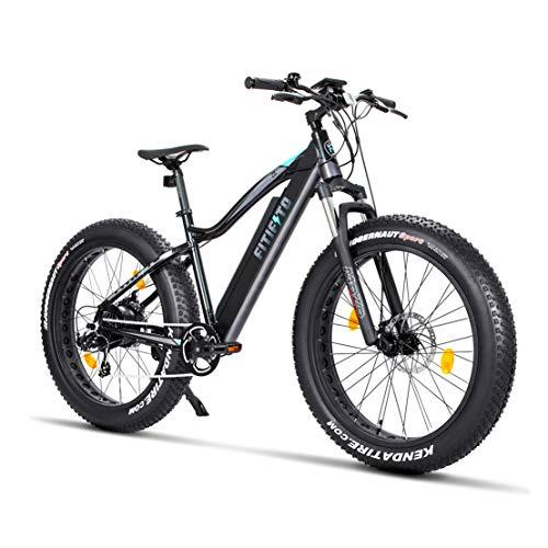 Fitifito FT26 Elektrofahrrad Fatbike E-Bike Pedelec, 36V 250W Heckmotor, 36V 13Ah 468W Samsung Akku, Kenda 26 x 4,0 MTB Reifen